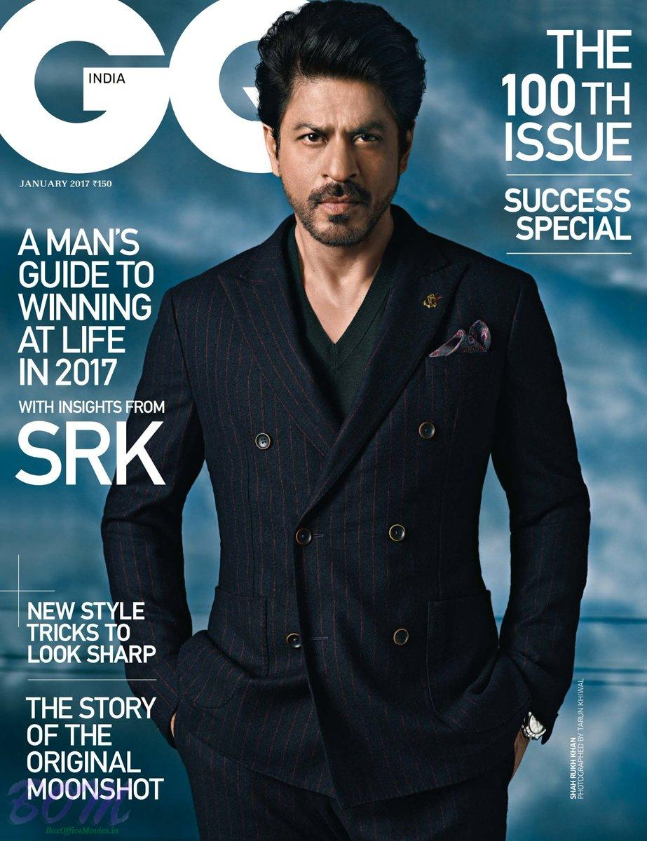 Shahrukh Khan Cover Boy for GQ India January 2017 issue