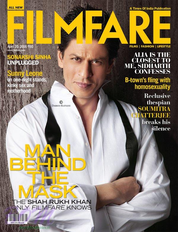 Shahrukh Khan Cover Page Boy for FILMFARE April 2016 issue