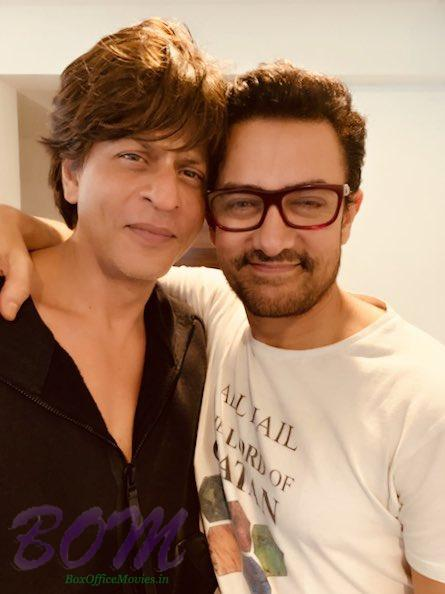 Shahrukh Khan and Aamir Khan latest picture on 31 Oct 2018
