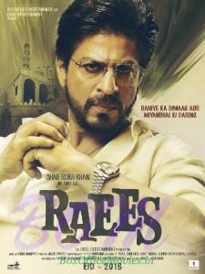 Shahrukh Khan looking daring in Raees movie poster