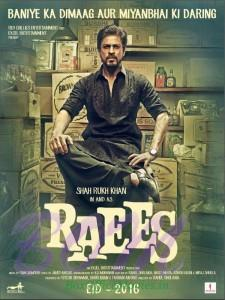 Shahrukh Khan starrer Raees movie poster