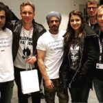Shahrukh Khun, Ahushka Sharman and Imtiaz Ali with team Red Chillies Entertainment in Amsterdam