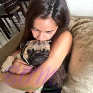 Shazahn Padamsee latest pic with her cutie at home