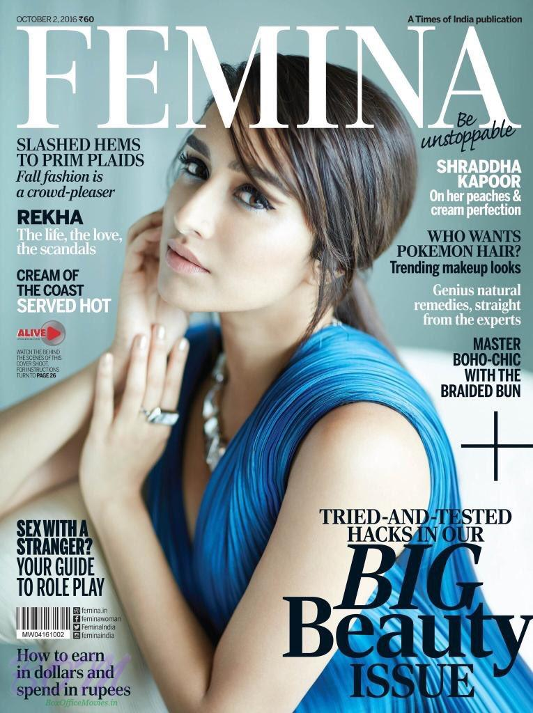 Shraddha Kapoor Cover Girl October 2016 for FEMINA India