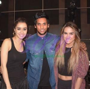 Shraddha Kapoor and Lauren Gottlieb at ABCD2 wrap party