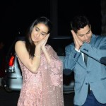Shraddha Kapoor and Varun Dhawan while walked into Tulsi Kumar's reception