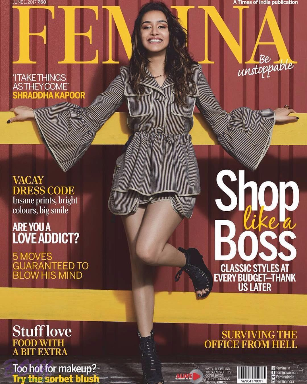 Shraddha Kapoor cover girl for FEMINA Magazine June 2017 issue