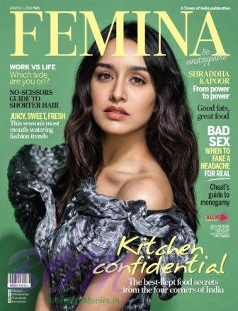 Shraddha Kapoor cover girl for FEMINA Magazine March 2018 issue