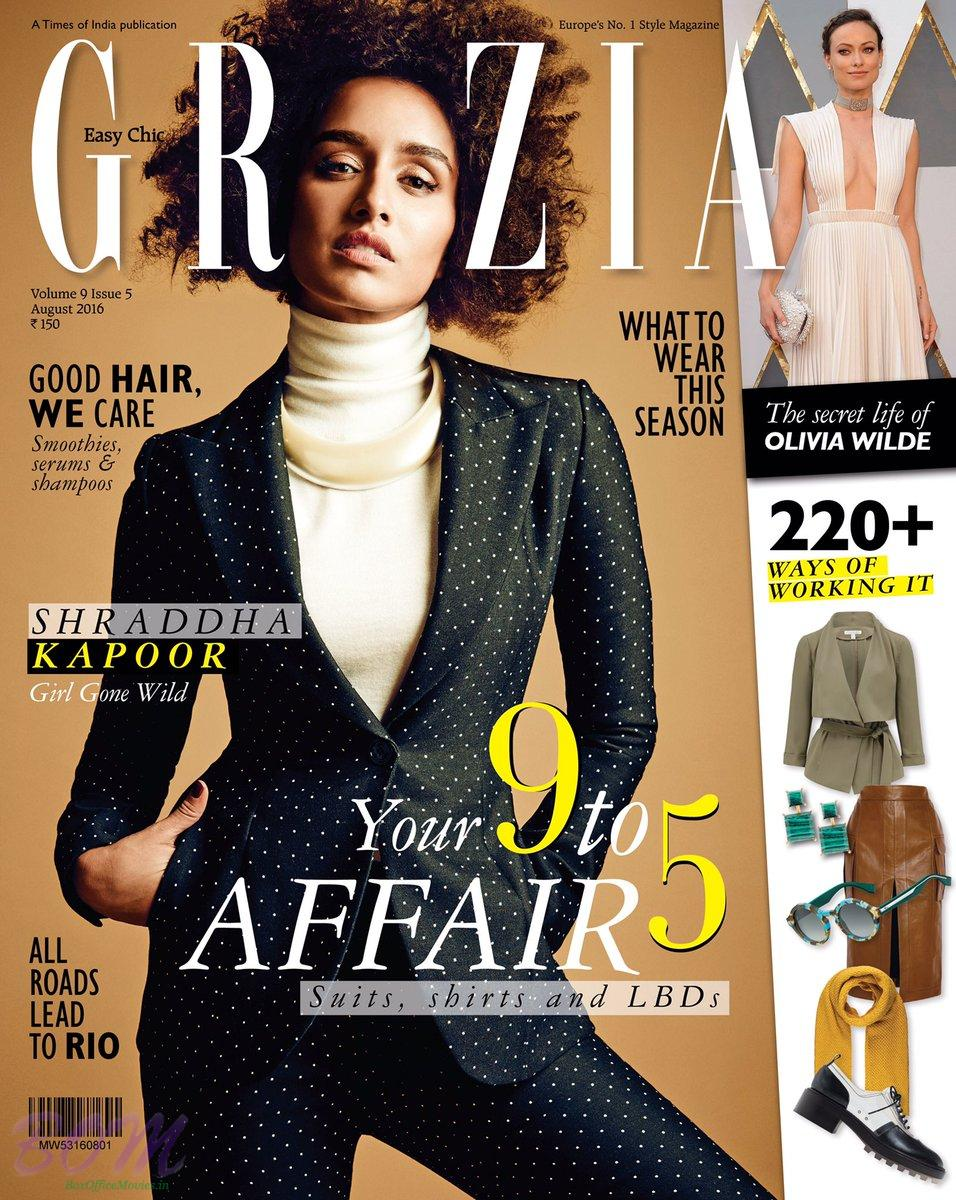 Shraddha Kapoor cover girl for Grazia India August 2016 issue