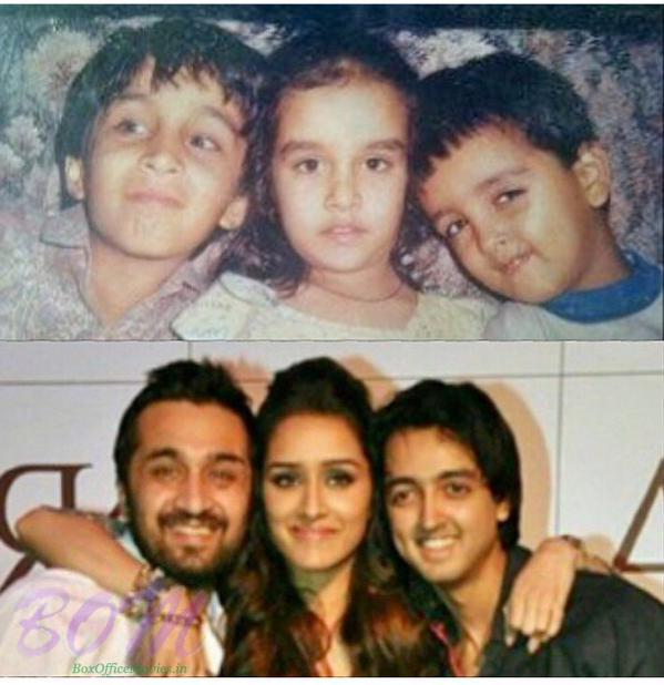 Shraddha Kapoor family photo with Siddhanth kapoor