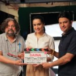 Shraddha Kapoor with Amole Gupte and Bhushan Kumar for Saina Nehwal biopic