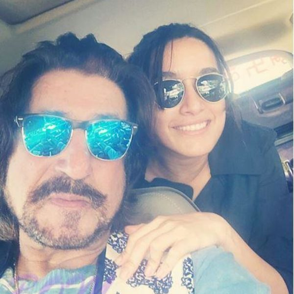 Shraddha Kapoor with daddy Shakti Kapoor for Eshanka Wahi wedding