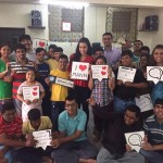 Shraddha Kapoor with the kids at Mann, the NGO supported by Design 1 of Sahachari foundation