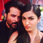 Shruti Haasan selfie with Anil Kapoor