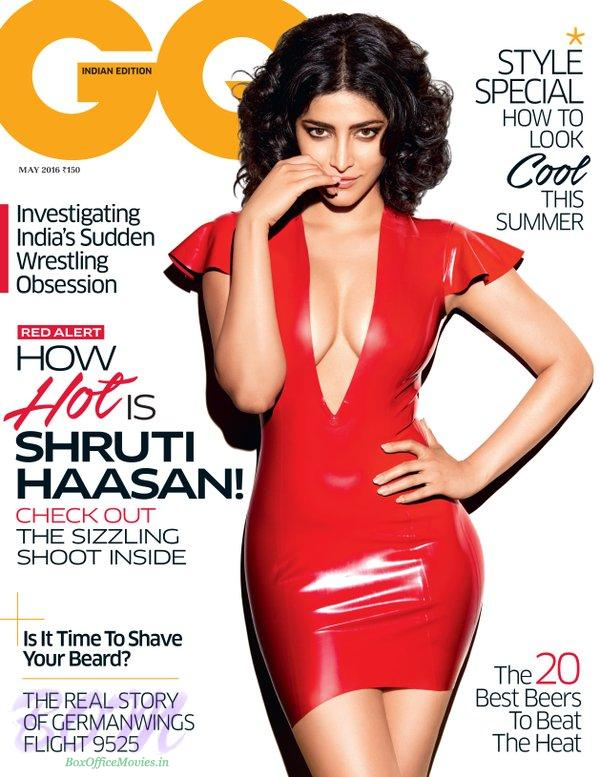 Shruti Haasan sizzling cover girl for GQ India May 2016 issue