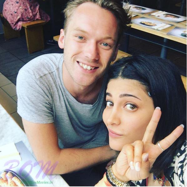 quirky pic of Shruti Haasan with friend Jay Maude