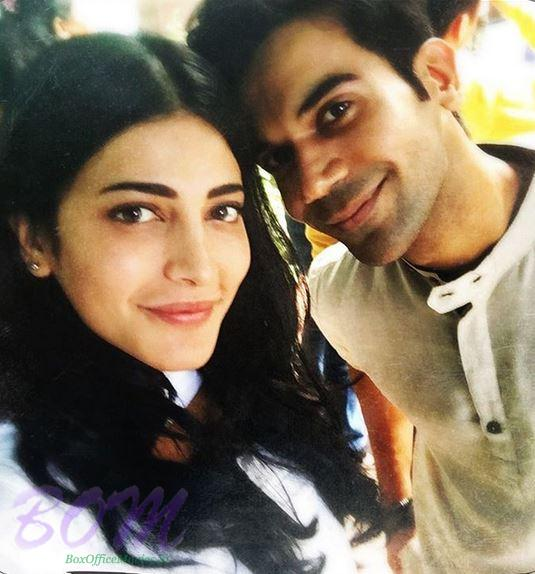 Shruti Haasan selfie with Raj Kumar Rao