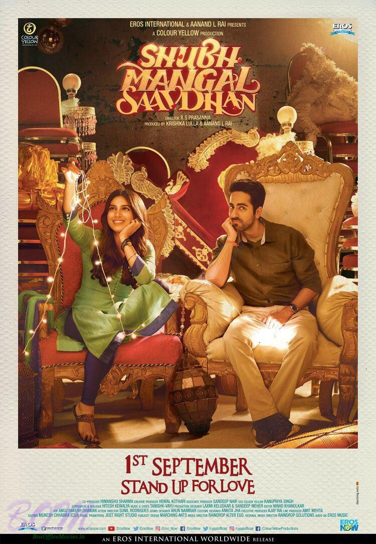 Shubh Mangal Saavdhan movie new poster. Movie releasing on 1st Sep 2017
