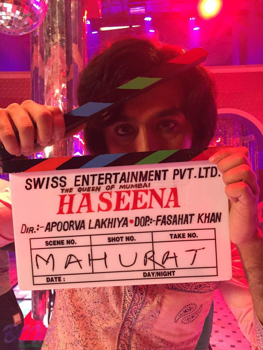 Siddhanth Kapoor holding the clipper of new movie Haseena