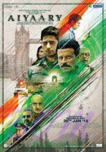 Siddharth Malhotra and Manoj Bajpayee statter AIYAARY movie poster