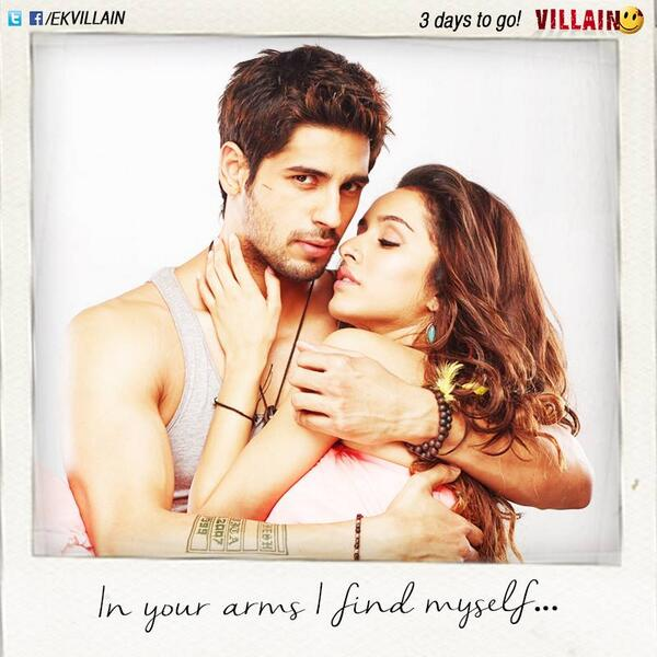 Sidharth Malhotra & Shraddha Kapoor - In your arms, I find myself