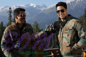 Sidharth Malhotra and Manoj Bajpayee while shooting for Aiyaary in Kashmir