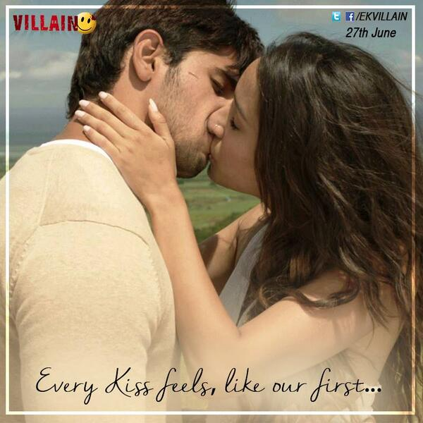 Sidharth Malhotra and Shraddha Kapoor lip kiss scene picture in Ek Villain