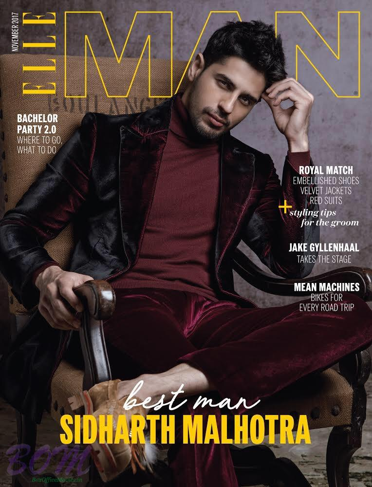 Sidharth Malhotra cover boy Elle Man Nov 2017 vol