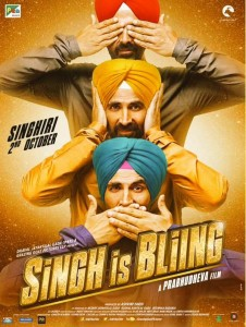 Singh Is Bliing new Gandhi theme poster