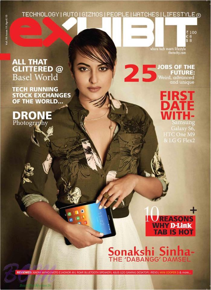 Sonakshi Sinha at exHIBIT cover page April-2015 Issue