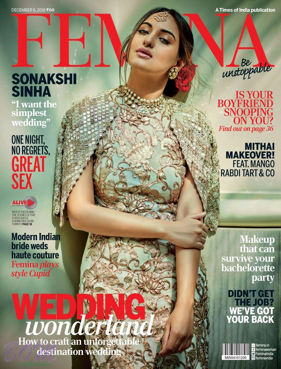 Sonakshi Sinha cover girl for FEMINA Dec 2016 issue