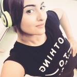 Sonakshi Sinha latest selfie - feels Headphones on. World off