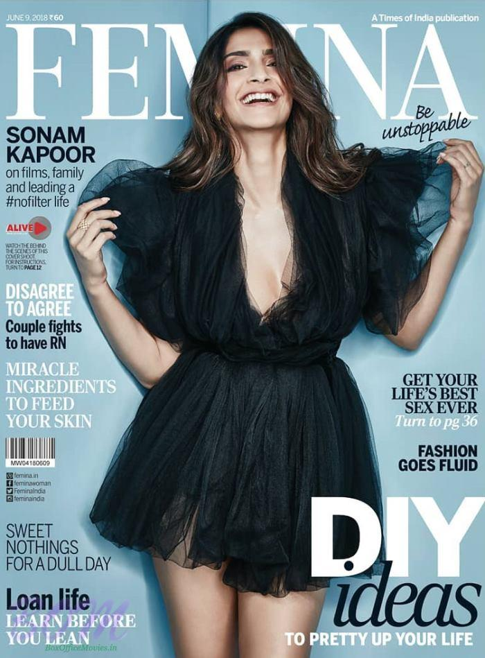 Sonam Kapoor cover girl for FEMINA Magazine June 2018 issue