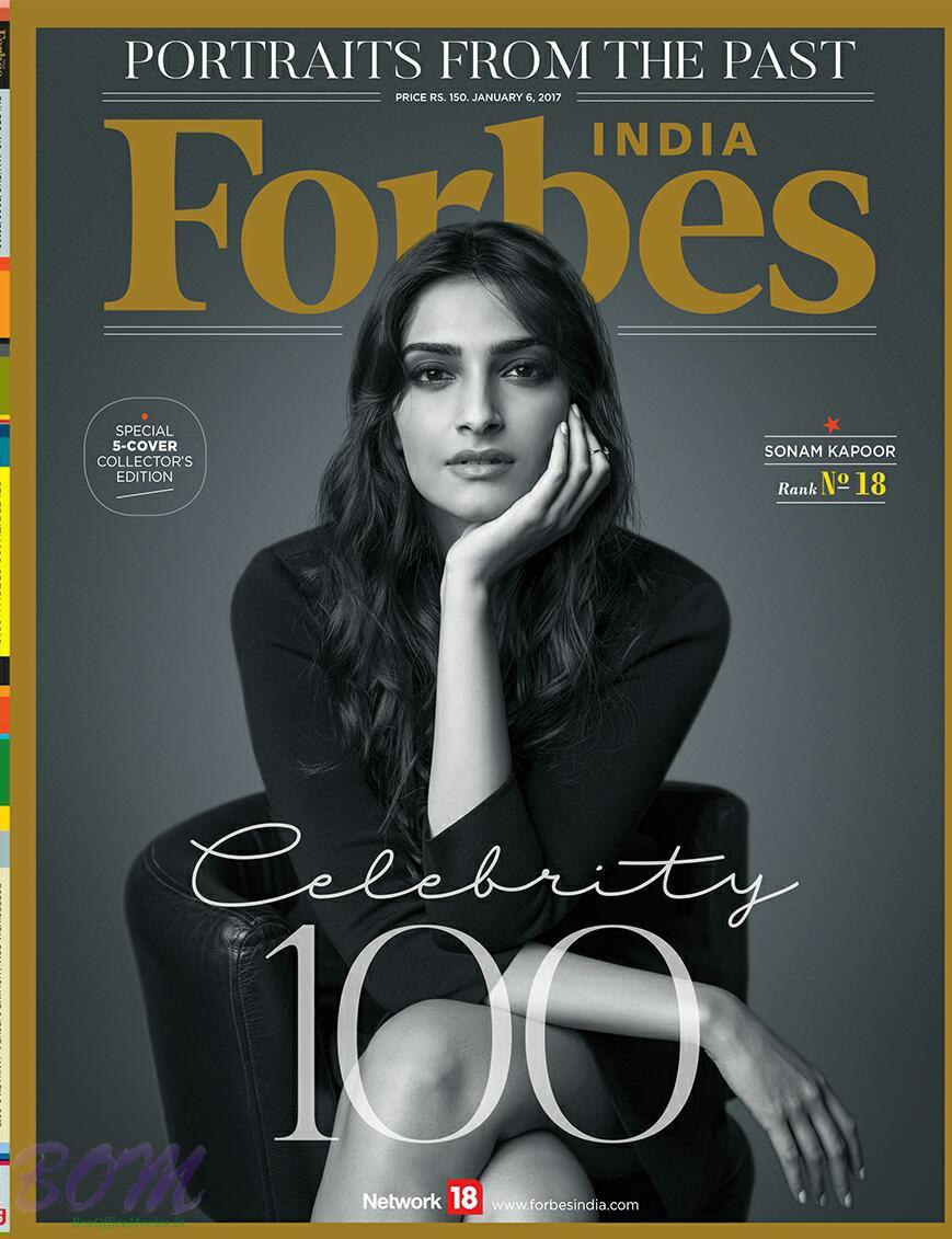 Sonam Kapoor cover girl for Forbes India Jan 2017 Issue