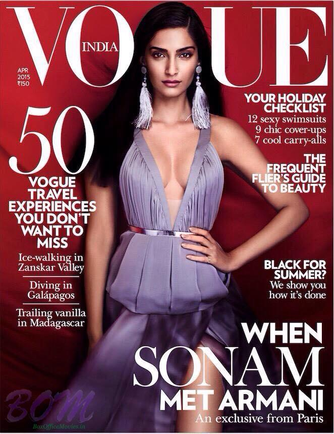 Sonam Kapoor for Vogue India Magazine Apr 2015 Issue