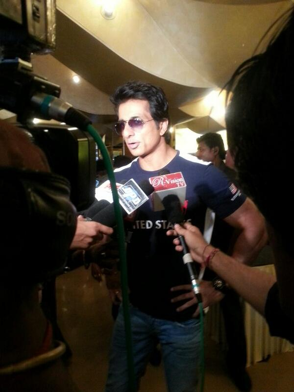Sonu Sood arrives at the Its EntertainmentTrailer Launch Event