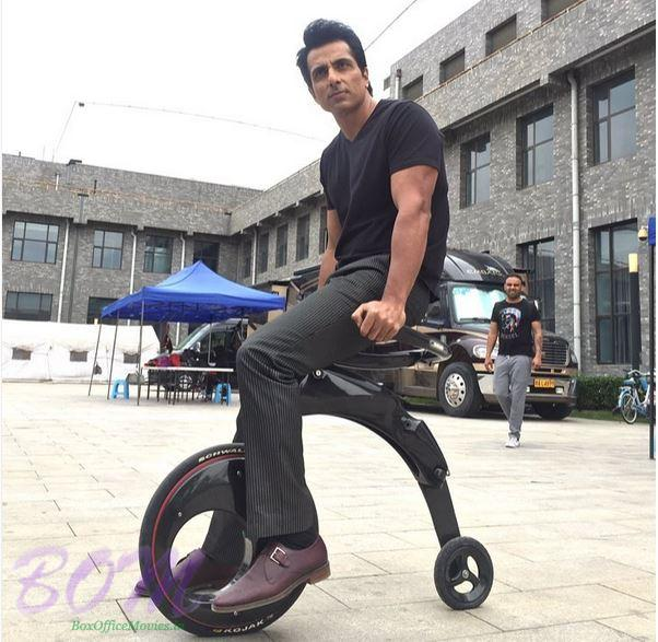 Sonu Sood enjoying a beautiful bicycle experience