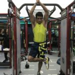 Sonu Sood one leg standing on a ball