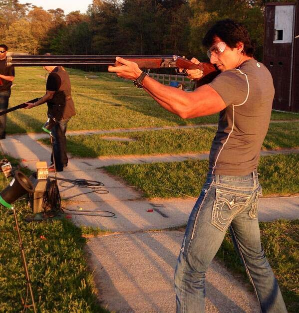 Sonu Sood says Had a great time at the shooting range in Washington.Clay pigeon shooting is one of the most exciting experience.