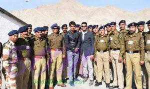 Sonu Sood with Indian Army on Ladakh when shooting for Paltan