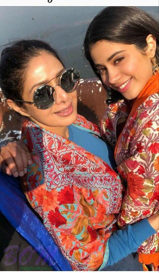 Sridevi with her daughter Janhvi