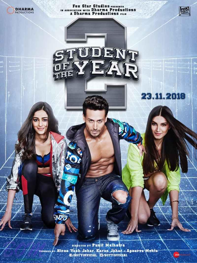 Student of the year 2 poster with leading starcasts