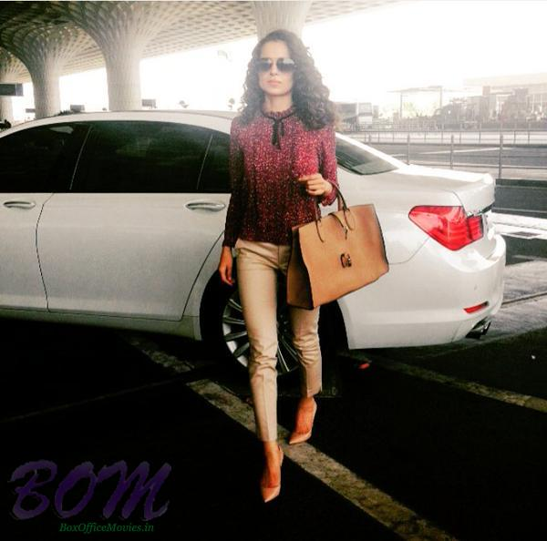 Stylish Kangana Ranaut at the Mumbai airport