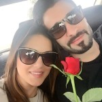 Sunny Leone and Daniel Weber celebrating RoseDay 2016