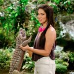 Sunny Leone hates holding this cute baby alligator