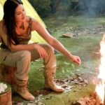 Sunny Leone making traditional nighttime campfire treat Smores