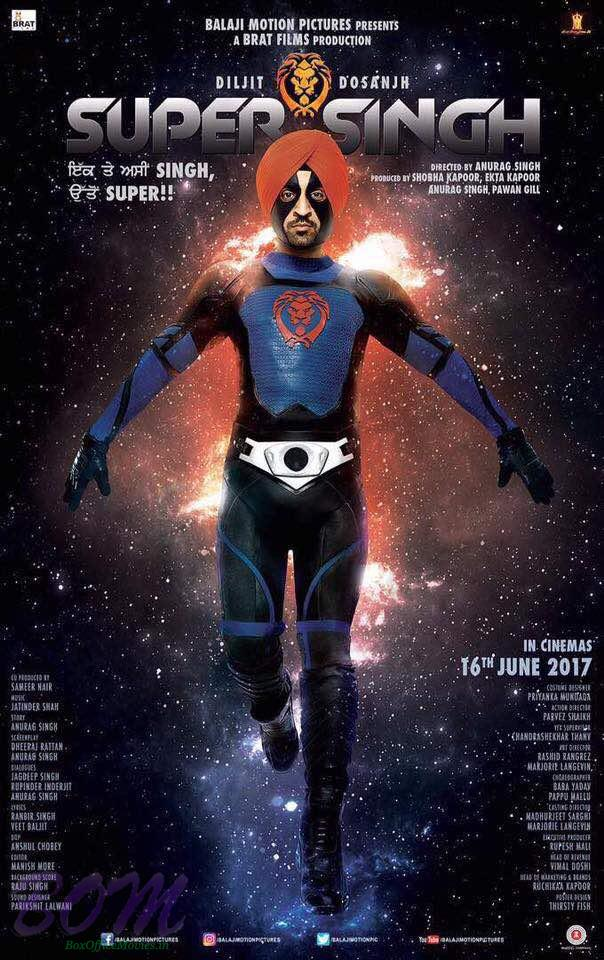 Diljit Dosanjh starrer Super Singh movie poster
