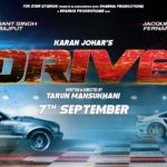 Sushant Singh Rajput and Jacqueline Fernandez starrer Drive releasing on 7th sep 2018