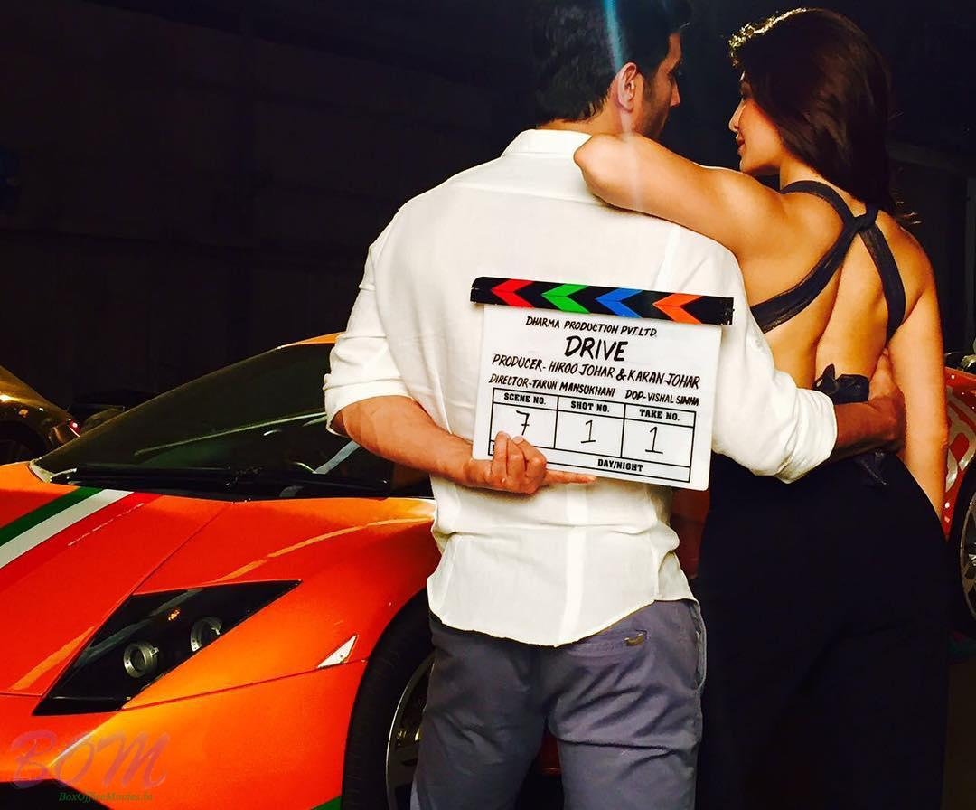 Sushant Singh Rajput and Jacqueline Fernandez with DRIVE movie clipper