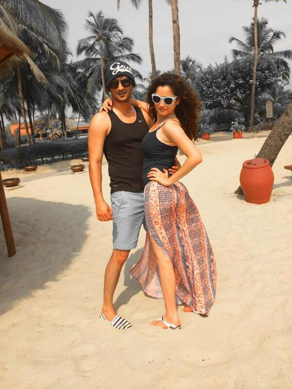 Sushant Singh Rajput hot picture with Girlfriend Ankita Lokhande.